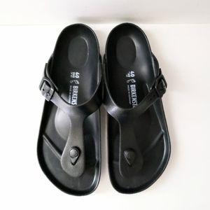 Birkenstock Eva Gizeh Black Rubber Sandals Size 40